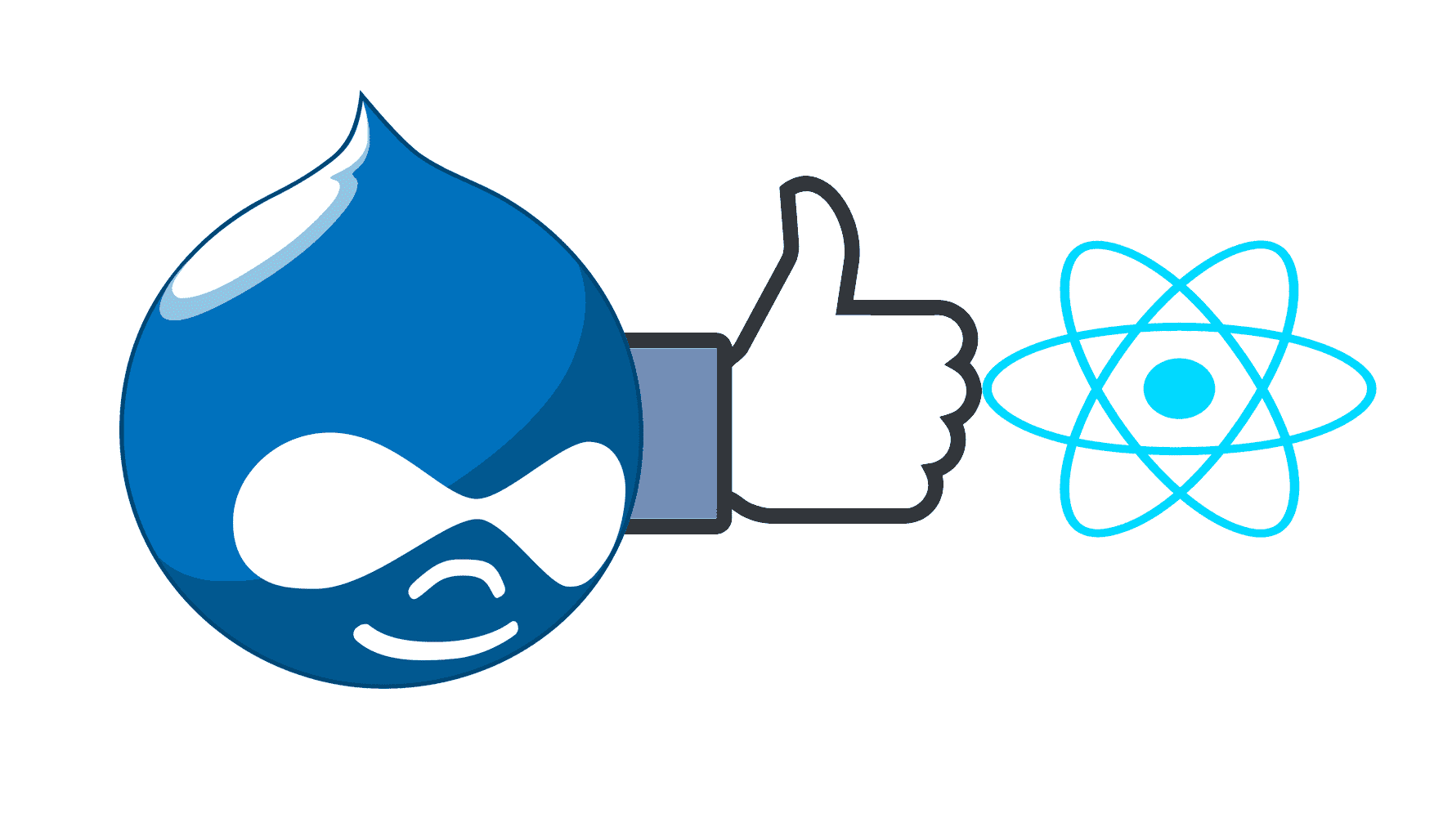 drupal with react services